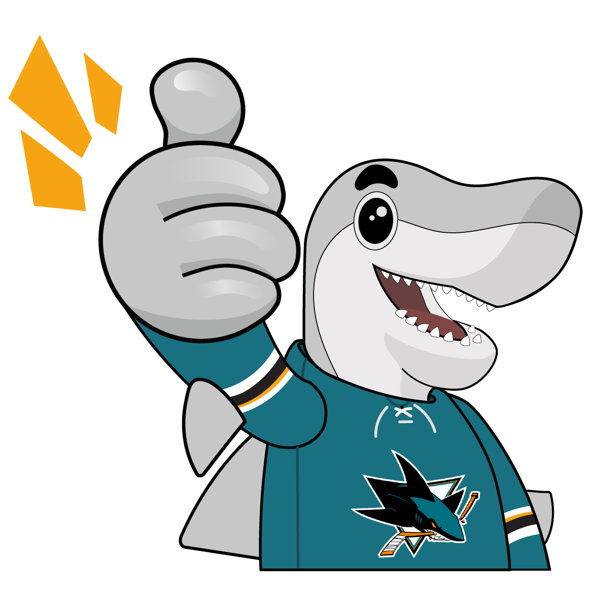 S.J. Sharkie Sticker Pack messages sticker-9