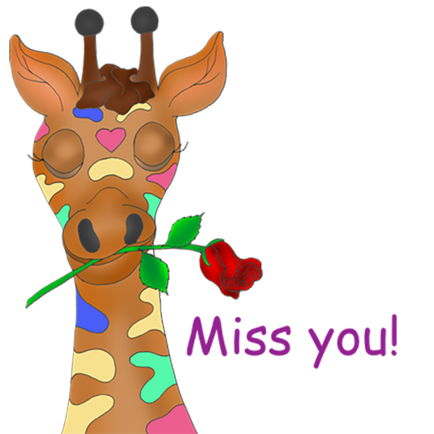 Giraffe Expressions messages sticker-7