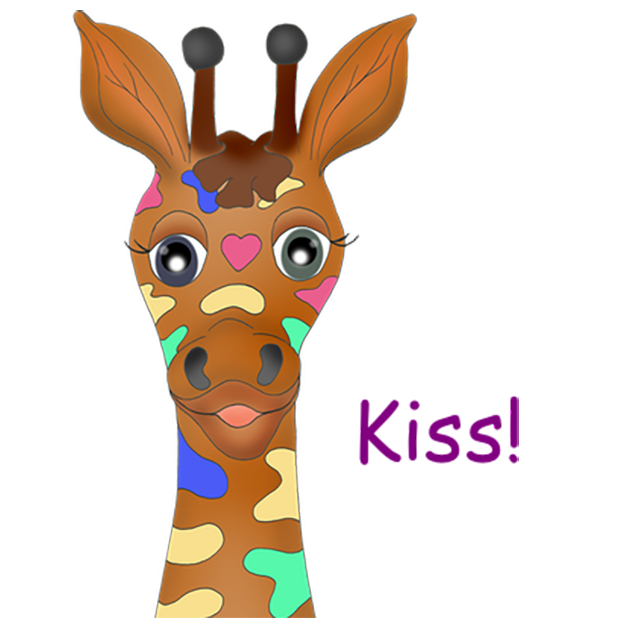 Giraffe Expressions messages sticker-5