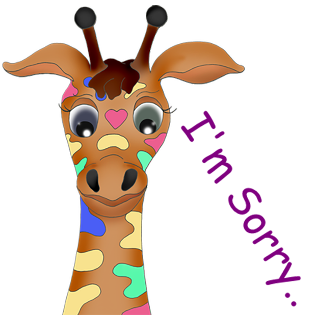 Giraffe Expressions messages sticker-4