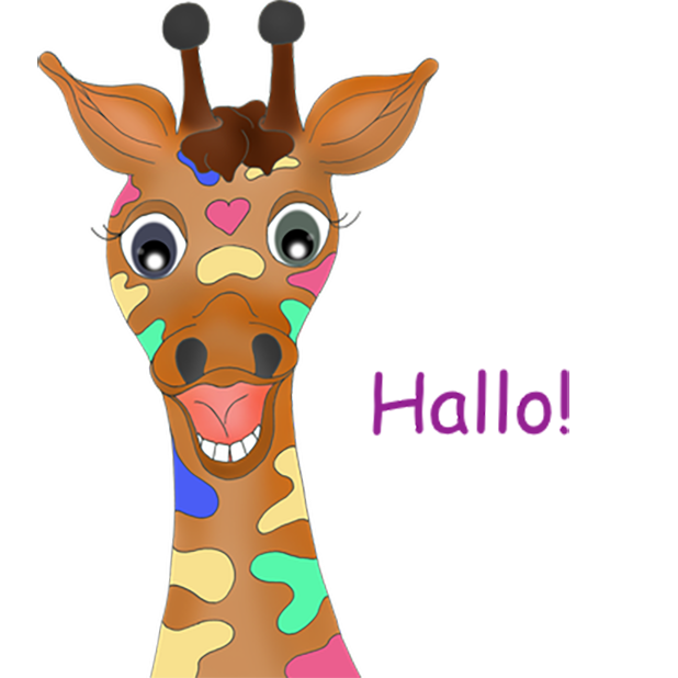 Giraffe Expressions messages sticker-2