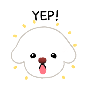 Yallet the bichon (taster) messages sticker-2