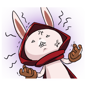 Rabbit in the moon messages sticker-2