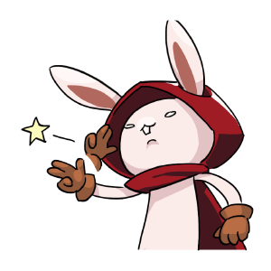 Rabbit in the moon messages sticker-9
