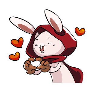 Rabbit in the moon messages sticker-3