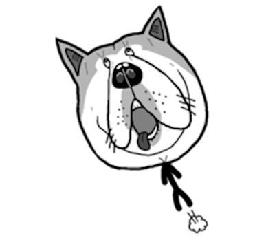 Funny Stick Dog Emoji Sticker messages sticker-10