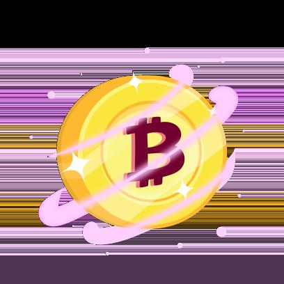 Bitcoin Emoji messages sticker-6