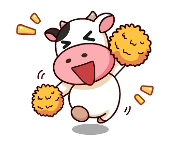 Kitty the Cow Animated messages sticker-1