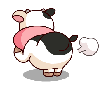 Kitty the Cow Animated messages sticker-6