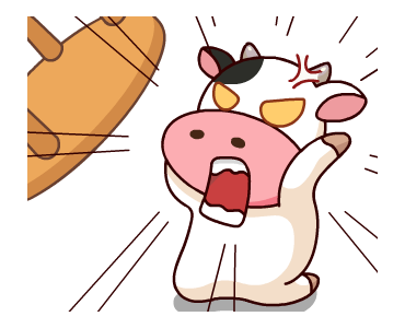 Kitty the Cow Animated messages sticker-5