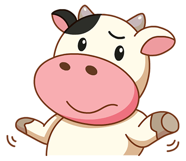 Kitty the Cow messages sticker-0