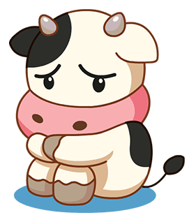 Kitty the Cow messages sticker-8