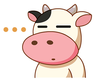 Kitty the Cow messages sticker-2