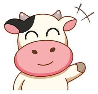 Kitty the Cow messages sticker-11