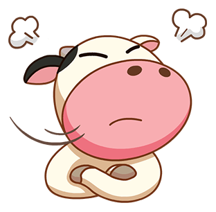 Kitty the Cow messages sticker-1