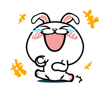 Crazy Bunny Animated messages sticker-6