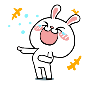 Crazy Bunny Animated messages sticker-0