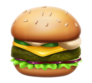 MAX Green Burger Emojis messages sticker-4