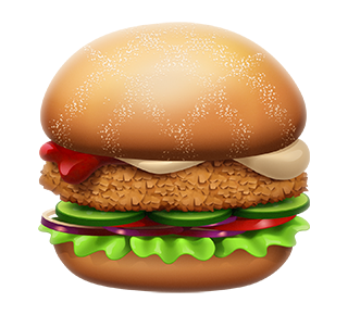MAX Green Burger Emojis messages sticker-0
