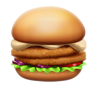 MAX Green Burger Emojis messages sticker-6