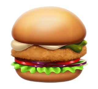 MAX Green Burger Emojis messages sticker-2