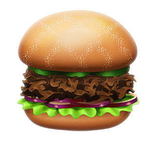 MAX Green Burger Emojis messages sticker-5