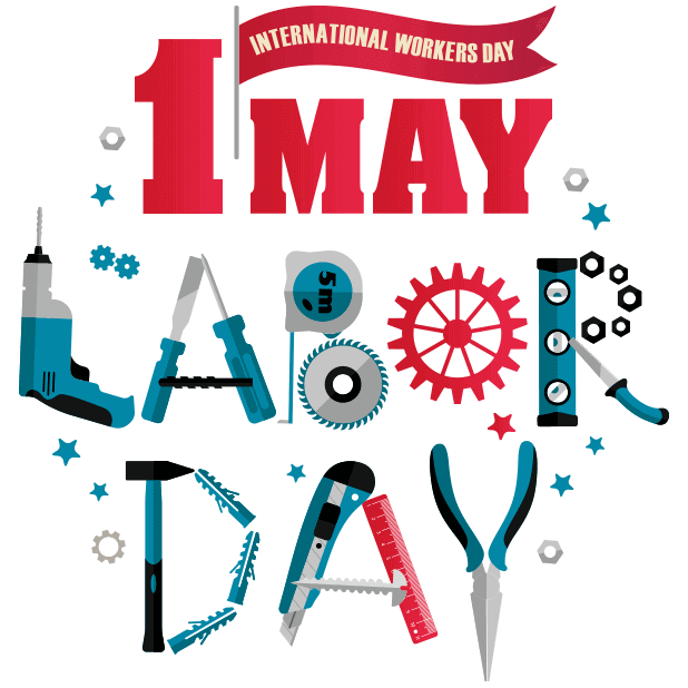 Happy Labour Day - 1st May messages sticker-1