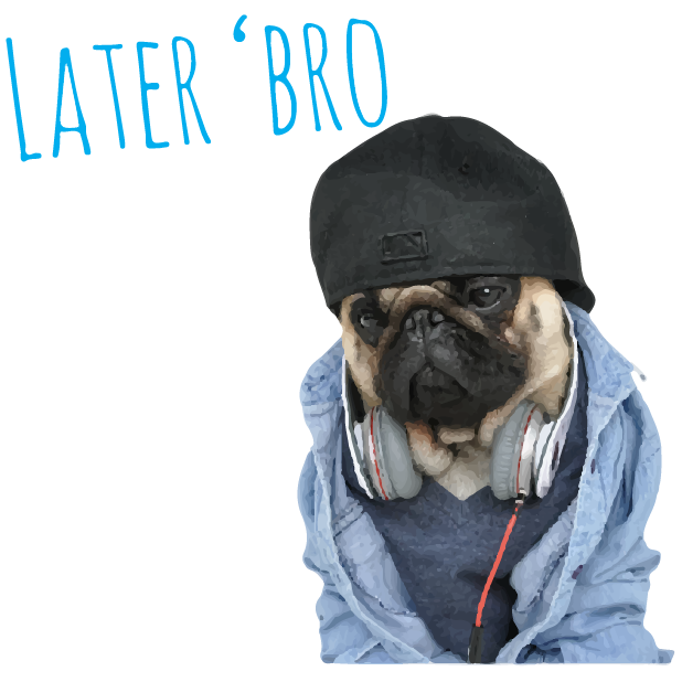 Pug Life messages sticker-1