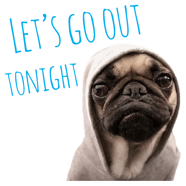Pug Life messages sticker-9