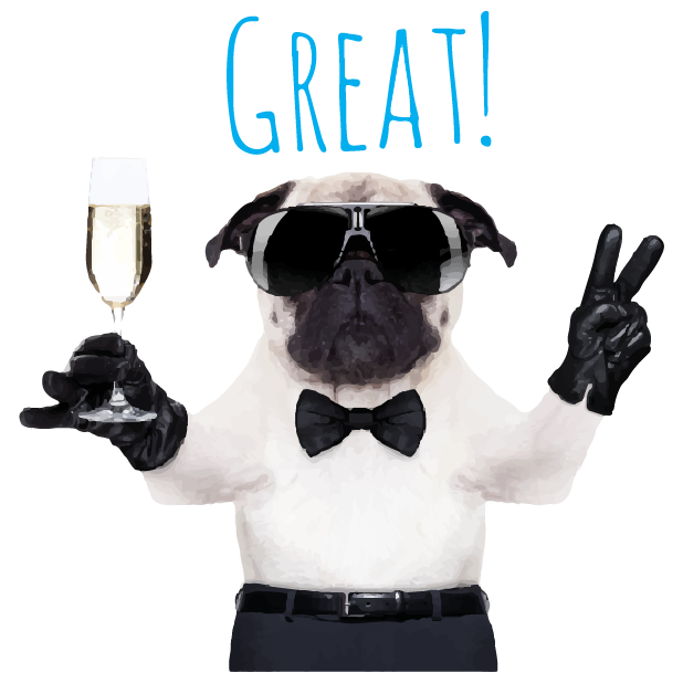 Pug Life messages sticker-5