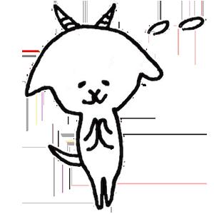 White goat YAGIKICHI messages sticker-9