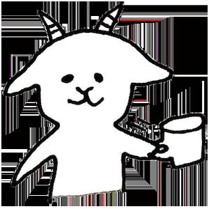 White goat YAGIKICHI messages sticker-5