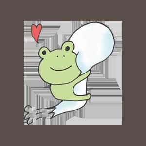 Frog PYOKOTA messages sticker-6
