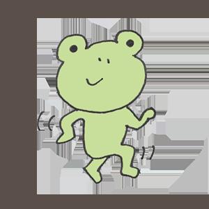 Frog PYOKOTA messages sticker-2