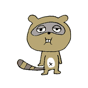 Cute Raccoon sticker messages sticker-7