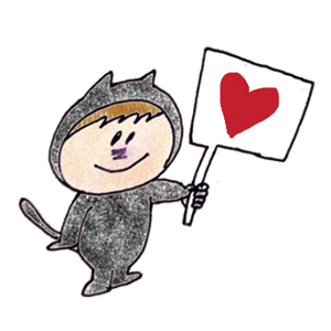 Black cat KURO 1 stickers messages sticker-7