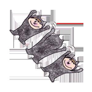 Black cat KURO 1 stickers messages sticker-10