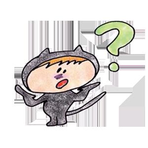 Black cat KURO 1 stickers messages sticker-5