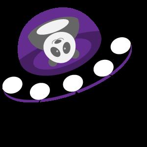 Panda UFO messages sticker-9