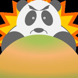Panda UFO messages sticker-3