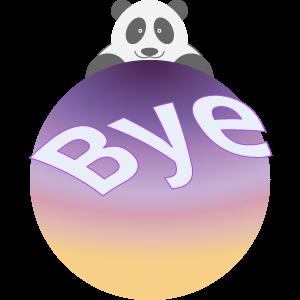Panda UFO messages sticker-8
