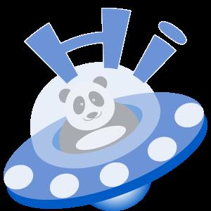Panda UFO messages sticker-0