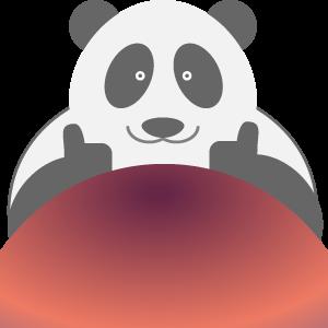 Panda UFO messages sticker-5