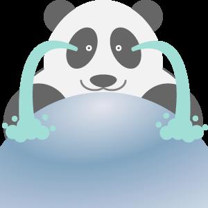 Panda UFO messages sticker-4