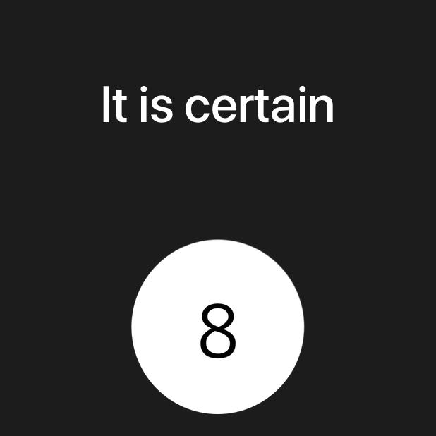 Modern Magic 8 Ball messages sticker-6