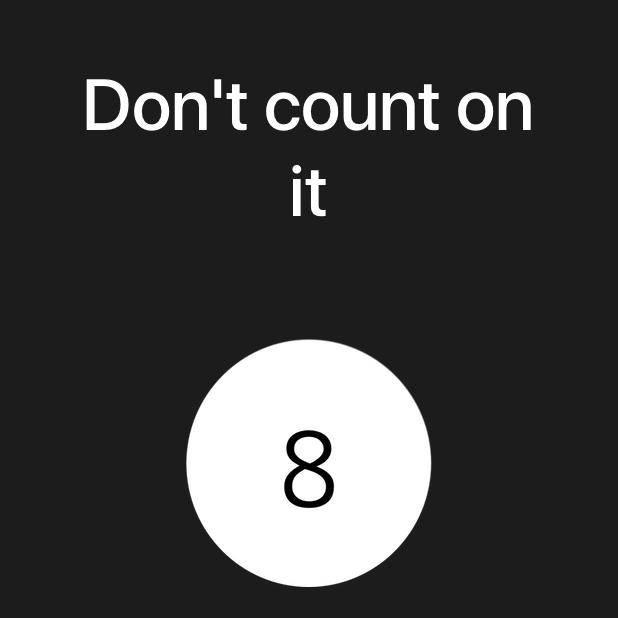 Modern Magic 8 Ball messages sticker-5
