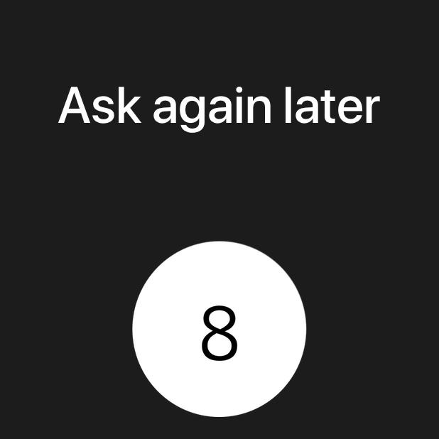 Modern Magic 8 Ball messages sticker-1