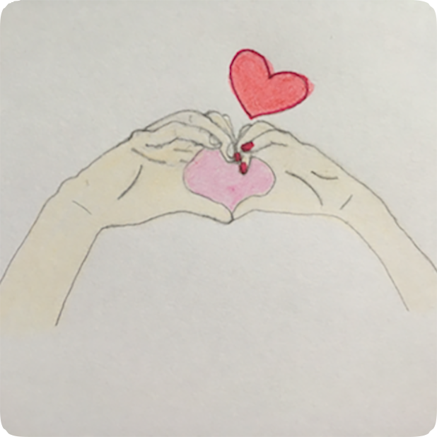 Heart Shaker : finger heart messages sticker-3