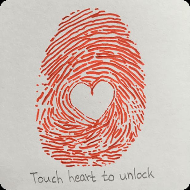 Heart Shaker : finger heart messages sticker-5