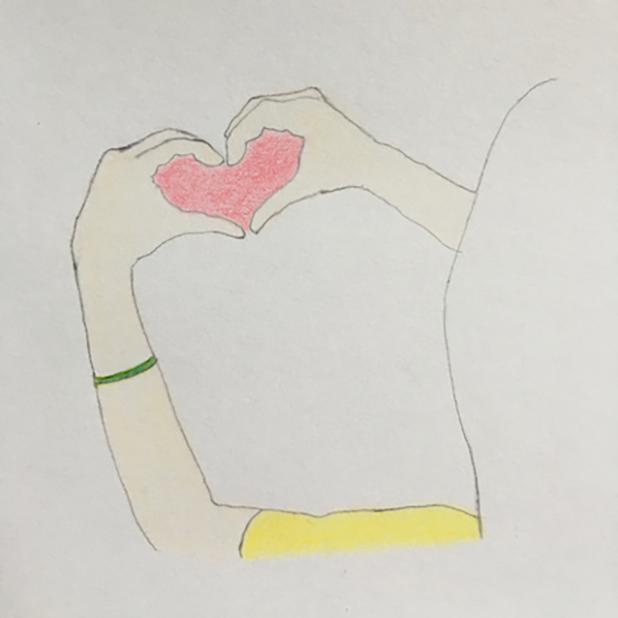 Heart Shaker : finger heart messages sticker-4